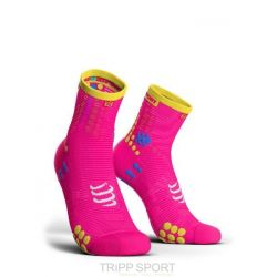 Compressport PRORACING SOCKS V3.0 (PRS V3) - RUN HIGH ROSE