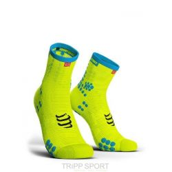 Compressport PRORACING SOCKS V3.0 (PRS V3) - RUN HIGH JAUNE