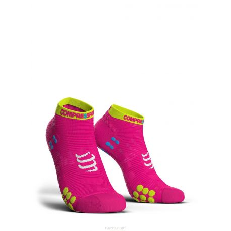 PRORACING SOCKS V3.0 (PRS V3) - RUN LOW ROSE COMPRESSPORT