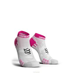 Compressport PRORACING SOCKS V3.0 (PRS V3) - RUN LOW ROSE BLANC COMPRESSPORT