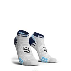 Compressport PRORACING SOCKS V3.0 (PRS V3) - RUN LOW BLEU BLANC COMPRESSPORT