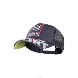 Compressport Casquette TRUCKER CAP - SWIMBIKERUN Noir