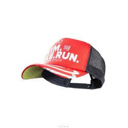 Compressport Casquette TRUCKER CAP - SWIMBIKERUN Rouge