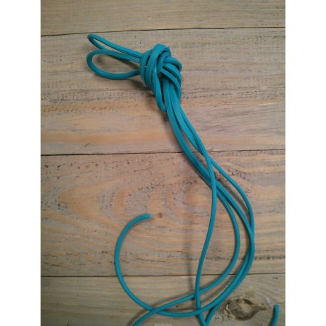 Lacets silicone Freelace TTR FLUO BLEU TURQUOISE - FreelaceReborn