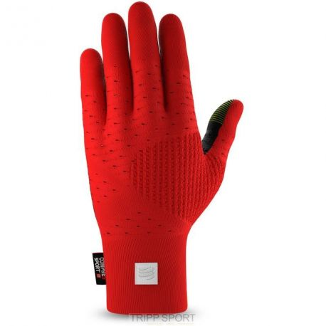 GANTS RUNNING GLOVES COMPRESSPORT ROUGE