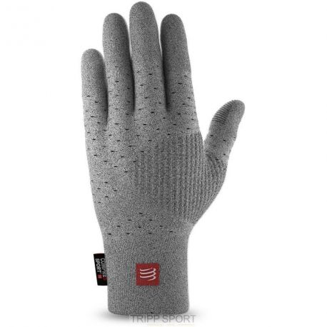 GANTS RUNNING GLOVES COMPRESSPORT GRIS