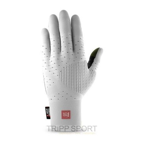 GANTS RUNNING GLOVES COMPRESSPORT BLANC