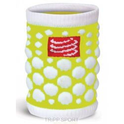 Compressport protège poignet compressport - SWEAT BAND - Jaune