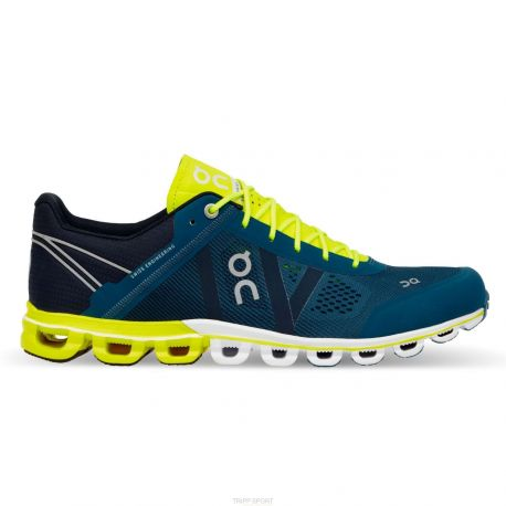 On running Cloudflow - Homme - Petrol / Neon - CHAUSSURES DE COURSE On running