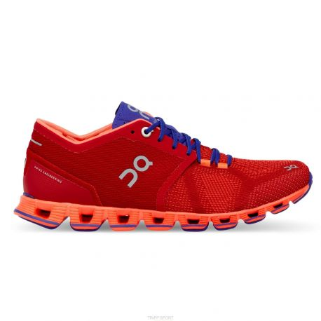 On running Cloud X - Femme - Red & Flash - CHAUSSURES DE COURSE