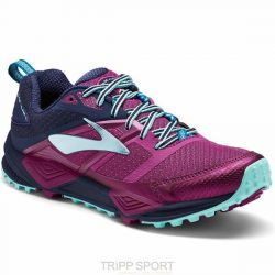 Brooks Brooks CASCADIA 12 - Femme - PLUM NAVY ICE BLUE - CHAUSSURES DE COURSE