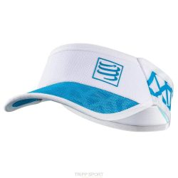 Compressport Visière UltraLight Spiderweb Blanc / Bleu