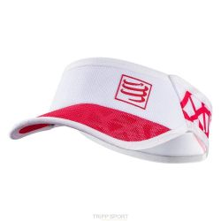 Compressport Visière UltraLight Spiderweb Blanc / Rouge