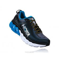 Hoka One One Arahi - Homme - Midnight Navy / Metallic Gold - CHAUSSURES DE COURSE