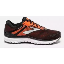 Brooks ADRENALINE GTS 18 - Homme - Noir / Orange - CHAUSSURES DE COURSE - 1102711D420