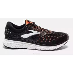 Brooks GLYCERIN 15 - Homme - noir/orange - CHAUSSURES DE COURSE Marathon
