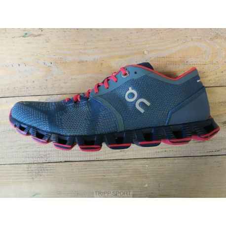 On running Cloud X - Femme - Lake / Coral - CHAUSSURES DE COURSE