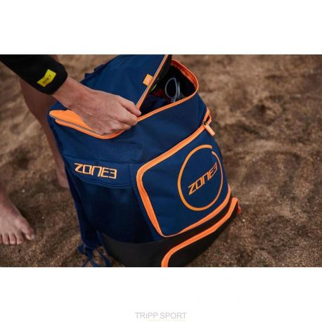 Sac Transition triathlon backpack Bleu / Orange zone3