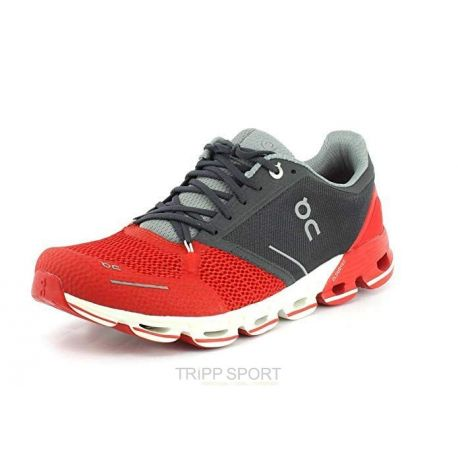 On Running Cloudflyer - Homme - Rouge / Black - CHAUSSURES DE COURSE Marathon