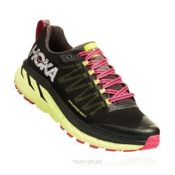 Hoka One One CHALLENGER ATR 4 - Femme - Black / Sharp Green - CHAUSSURES DE TRAIL