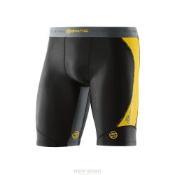 Skins DNAMIC MEN'S COMPRESSION HALF TIGHTS Black / Citron