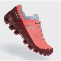 On Running cloudventure - Coral/Mulberry - Femme