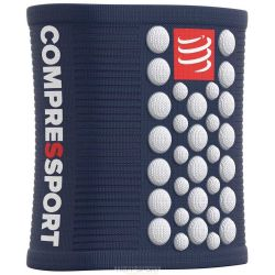 Compressport Serre-poignet - SWEAT BAND - Bleu/Blanc