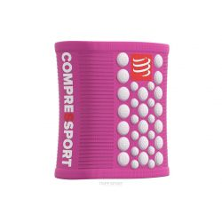 Compressport Serre-poignet - SWEAT BAND - Rose/Blanc