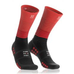 Mid compression Chaussette rouge
