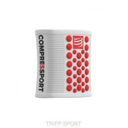 Compressport Serre-poignet - SWEAT BAND - Blanc/Rouge
