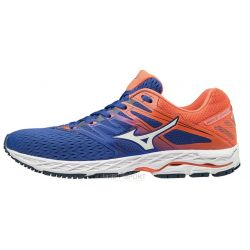 Mizuno Wave Shadow 2 - Homme - Bleu Blanc Orange