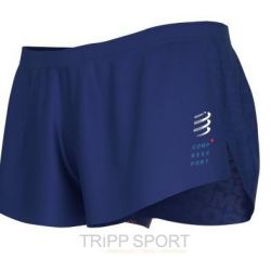 Racing split short man blue