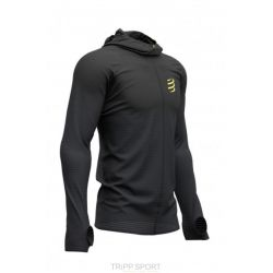 Compressport 3D THERMO SEAMLESS HOODIE ZIP - BLACK EDITION 2019 BLACK