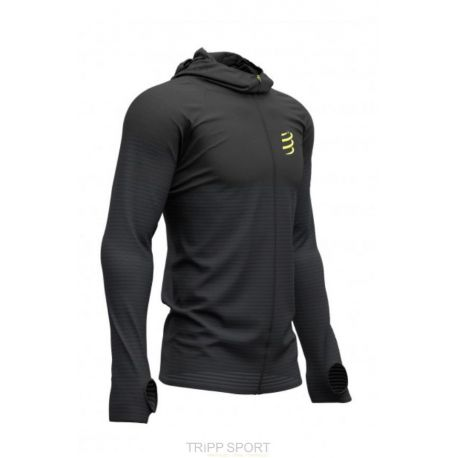 compressport 3D Thermo seamless hoodie zip - black edition 2019 noir