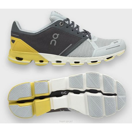 On running Cloudflyer - Homme - Grey / Lime - CHAUSSURES DE COURSE