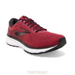 Brooks BROOKS GHOST 12 - Homme - Rouge - CHAUSSURES DE COURSE