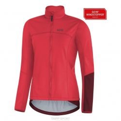 GORE® C5 GORE® WINDSTOPPER® Thermo Trail Veste hibiscus pink/chestnut red