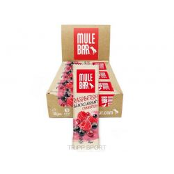Mulebar Mulebar Framboise Cassis Cranberry - BARRE ÉNERGÉTIQUE VEGAN 40G
