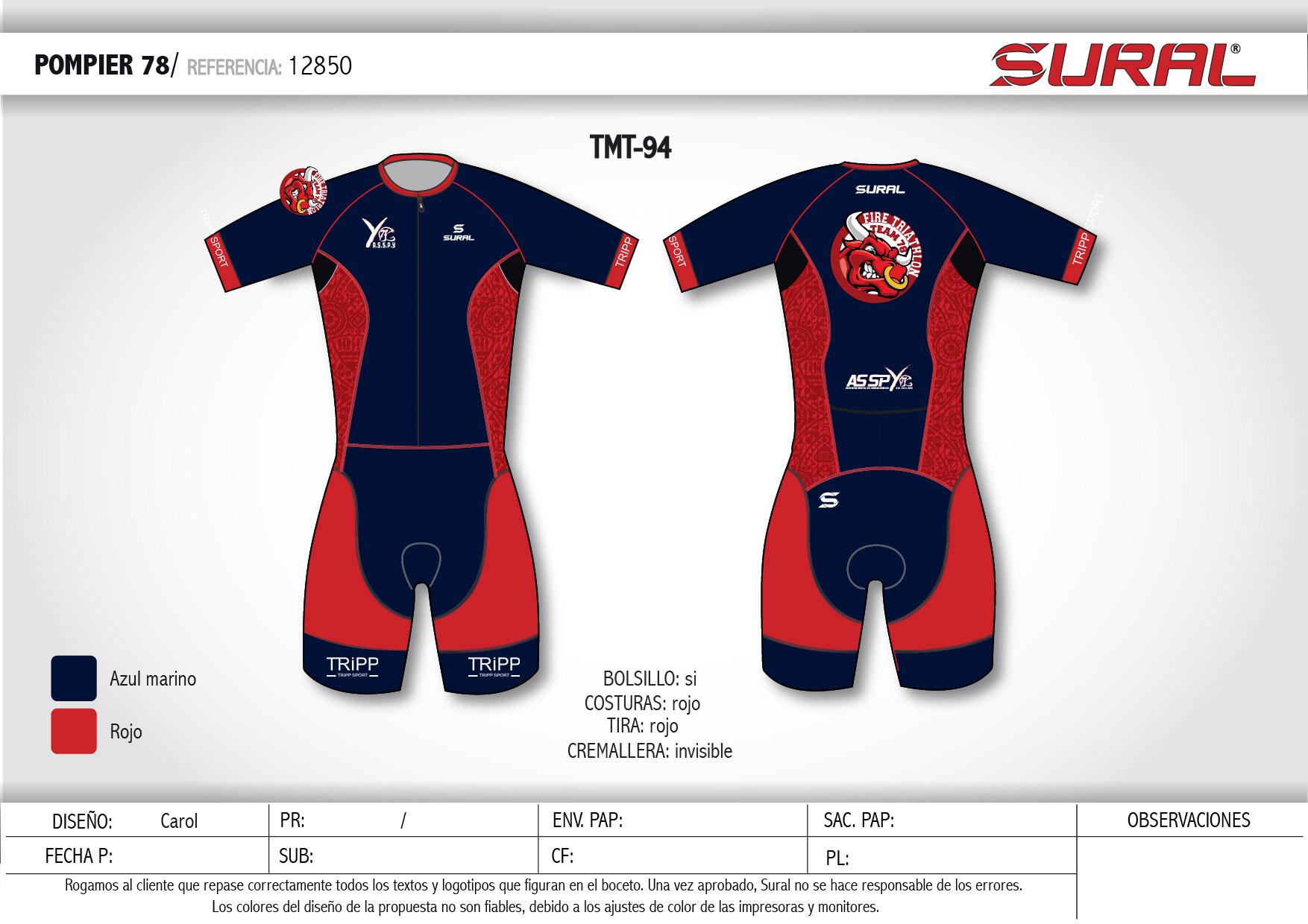 Vêtements sport triathlon trifonction personnalisée