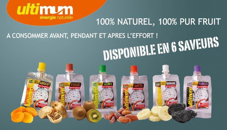 Gourdes de pulpe de fruit sec Ultimum Sport pour la pratique sportive sur Tripp Sport : Boutique de Triathlon