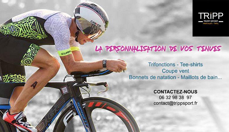 La personnalisation avec Tripp Sport Vêtements de sport personnalisés sur Tripp Sport : Boutique de Triathlon / Running Lens, Béthune, Arras, Lille, Douai