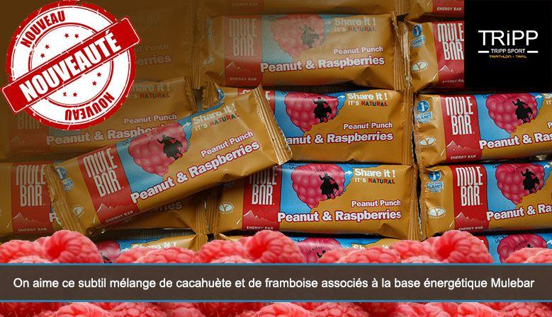 Nouvelle barre Mulebar - Cacahuètes et Framboise Nutrition sportive sur Tripp Sport : Boutique de Triathlon / Running Lens, Béthune, Arras, Lille, Douai